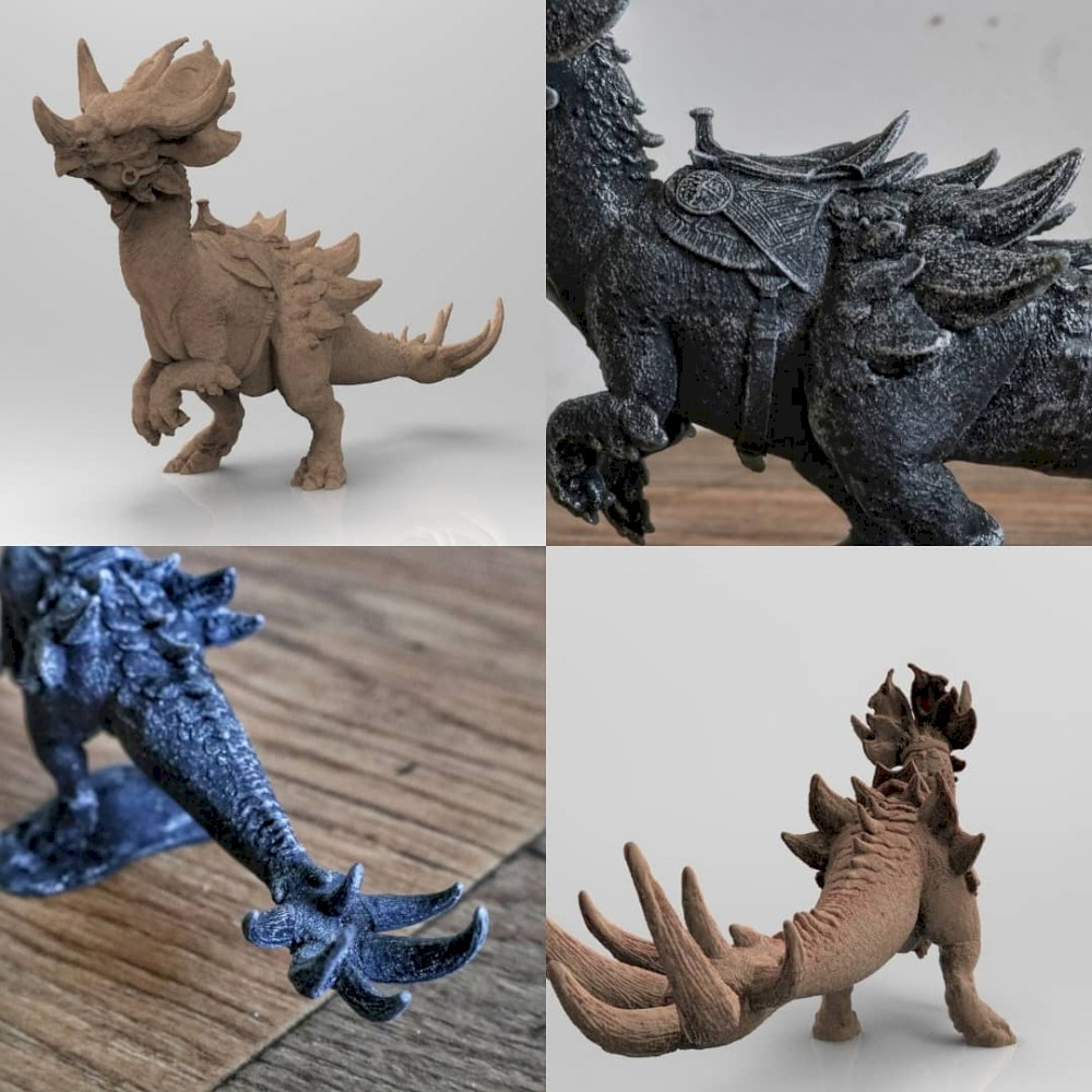 Wild Trihorn Raptor | GW2 | 3D model , miniature , figure
