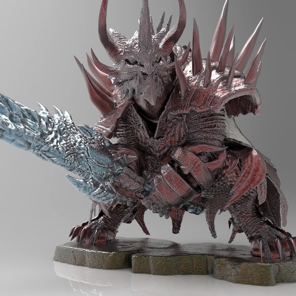 Charr Warrior | GW2 | 3D model , miniature , figure